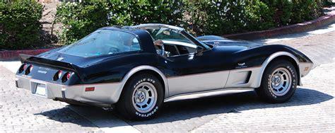 25th anniversary corvette 1978 corvette c3 new fastback design debuts 25th