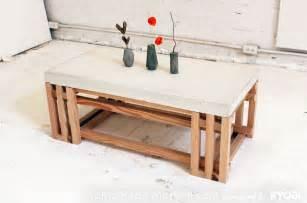 homemade modern ep15 concrete wood coffee table