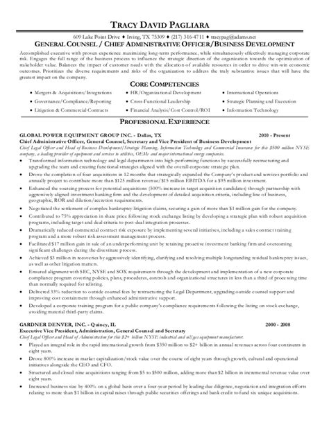 General Counsel Resume by Associate General Counsel Resume Ceo General