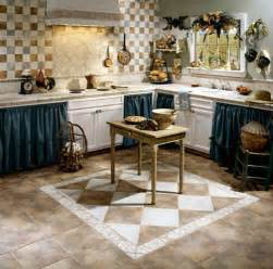 decorative kitchen floor tile design home interiors