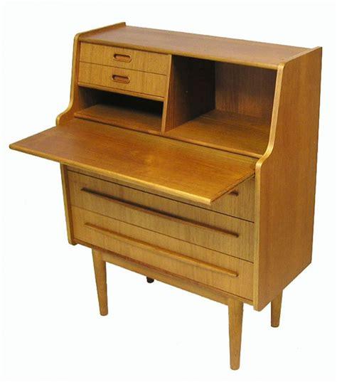 1960s Small Teak Writing Desk Bureau Hoopers Modern