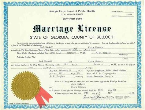 Wedding License by Appendix Other Records