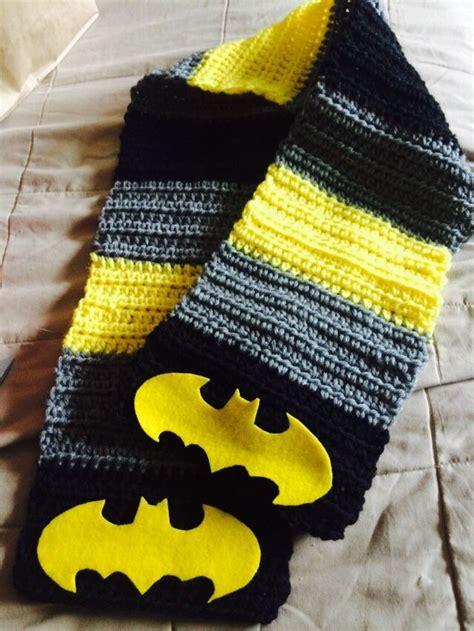 Knitting Pattern Batman Scarf   batman scarf mostly crochet and some knitting too