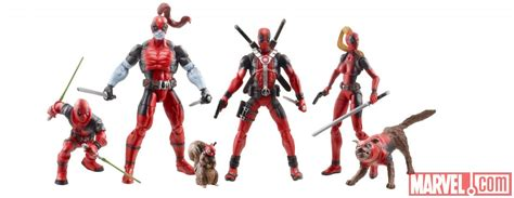 Figure Deadpool Corps Marvel Set hasbro to deliver deadpool corps figure box set in a taco truck at sdcc