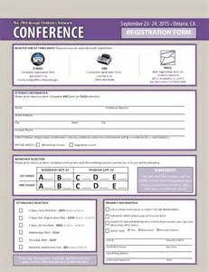 Participant Registration Form Template by The 29th Annual Children S Network Conference