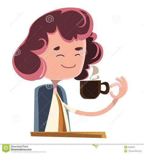 personaggi cafã femmes buvant le personnage de dessin anim 233 d illustration