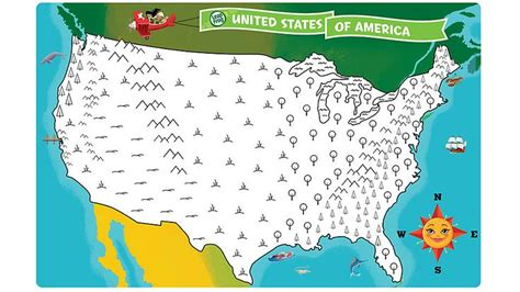 united states map your child learns united states map coloring page by coloring the map