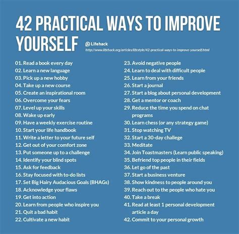 9 Ways To Get Through Days by 42 Practical Ways To Improve Yourself Pictures Photos