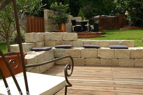 garten ideen aus stein sitzgelegenheiten aus stein terrasse und garten