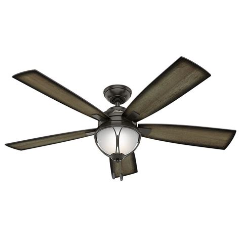 patio fans home depot hunter sun vista 54 in led indoor outdoor noble bronze