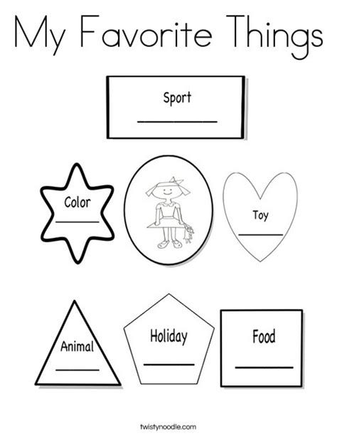 what does my favorite color tell about me coloring pages things images