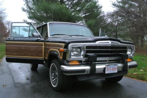 1989 jeep wagoneer interior 1989 jeep grand wagoneer 51 000 black interior