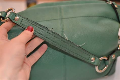fix repair prada handbag frayed leather edges prada vela