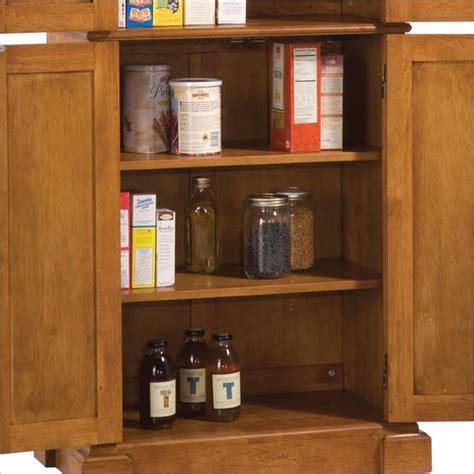 Home Styles Kitchen Pantry by Home Styles Kitchen Distressed Oak Finish Pantry Ebay