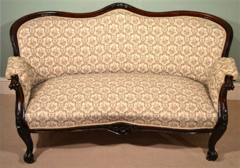 victorian settee antique antique victorian mahogany 2 seater settee sofa c 1870