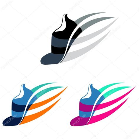 logo athletic shoes sport shoes sign with color variations stock vector