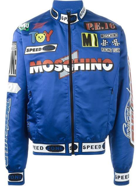 Moschino Bomber Jacket moschino racing bomber jacket in blue for save 36