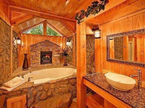 log cabin with bathroom and kitchen master bath log cabin feel bathroom ideas pinterest
