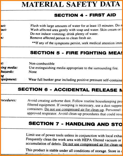 7 safety data sheet exle ledger review