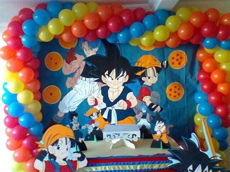 Decoracion Con Esferas De Dragon Ball Z | decoraci 243 n de globos de dragon ball z imagui