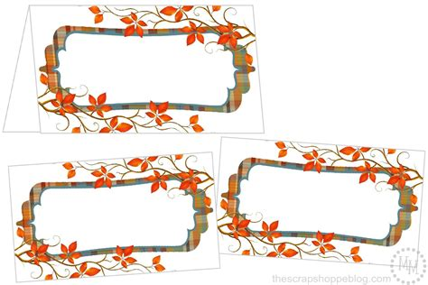 thanksgiving place card templates perfectly plaid thanksgiving place cards the scrap shoppe