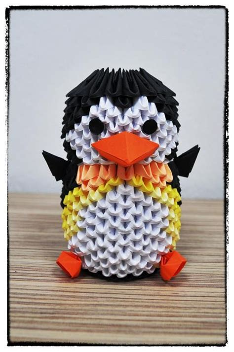 3d Origami Penguin - 1000 ideas about 3d origami on modular