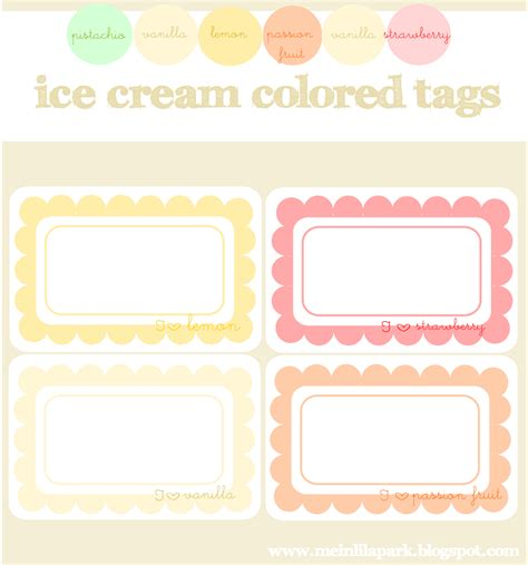 printable journal tags free digital ice cream colored scalloped journaling spots