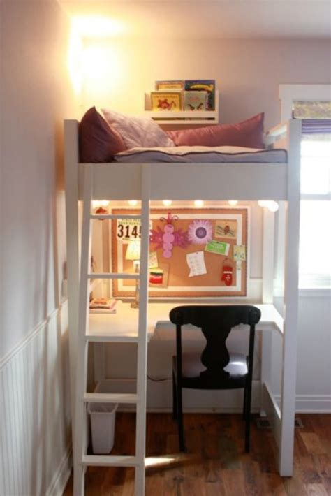 bunk bed with space underneath home command centers and homework center ideas