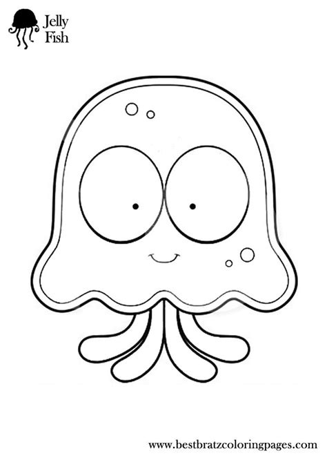 jellyfish template free coloring pages of and jellyfish