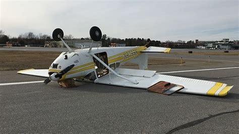 Crosswinds Detox Center by Small Plane Flips Due To Cross Wind