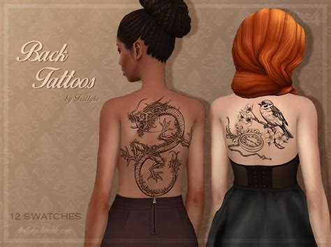 tattoo on back of neck epidural 154 best sims 4 cas tattoos images on pinterest time