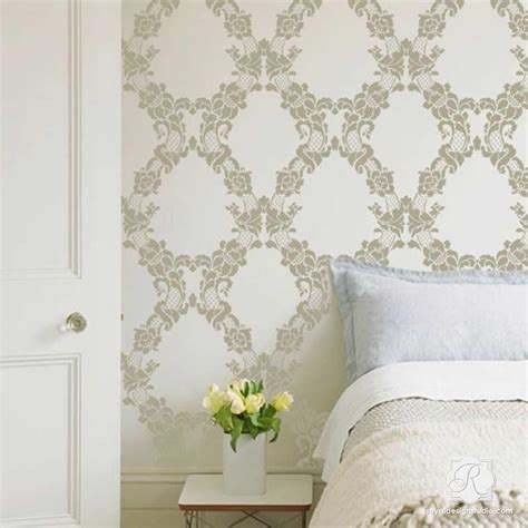 floral wall stencils for bedrooms large wall stencils vintage flower stencils for diy