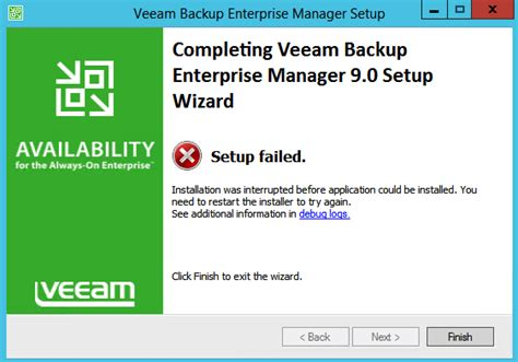 error 1327 invalid drive while installing or updating vmware virtual technical articles and tips veeam