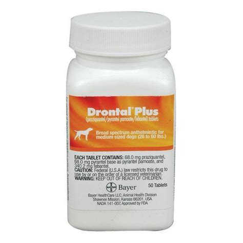 drontal plus for dogs flavor drontal plus for dogs 68 mg medium per tablet