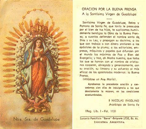 imagenes y oraciones ala virgen de guadalupe oraci 243 n por la buena prensa a la virgen de guadalupe
