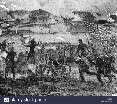 engraving battle engraving of general pickett at cemetery hill battle of