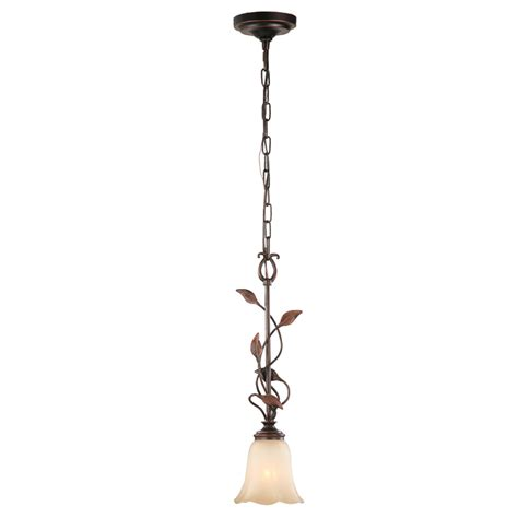 Allen Roth Pendant Lights Shop Allen Roth Eastview 6 12 In Rubbed Bronze Mediterranean Mini Tinted Glass Bell