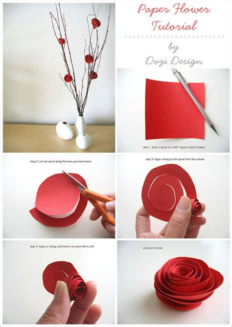 How To Make A Flower Out Of Paper Easy - make and easy paper roses 187 curbly diy design decor