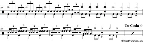 drum pattern broken age no one knows queens of the stone age drum sheet music