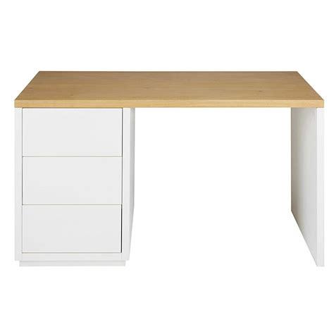 scrivania legno bianco scrivania in legno massello di quercia bianco l 140cm