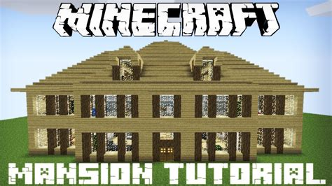 Blueprints For Mansions minecraft wooden mansion tutorial part 1 youtube