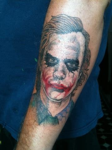 heath ledger tattoo heath ledger s joker by inkedromeo18 on deviantart