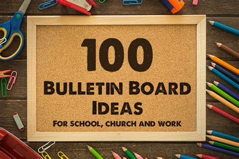 running 100 ideas that work in a small church books 100 bulletin board ideas for school church and work