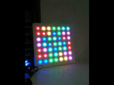 7x7 color display made from ge color effects 50 christmas