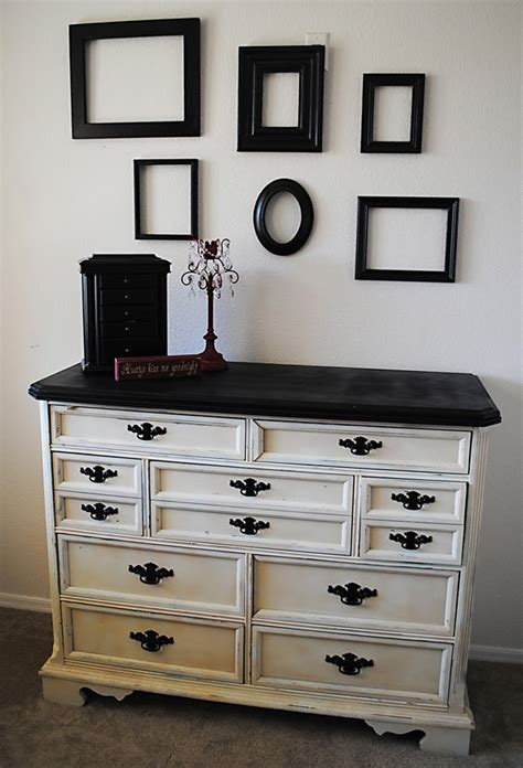How To Repaint A Wood Dresser by Painting Furniture Black Casual Cottage
