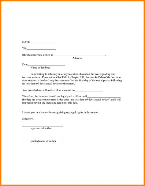 Lease Disagreement Letter 60 day notice to vacate letter image collections cv letter and format sle letter