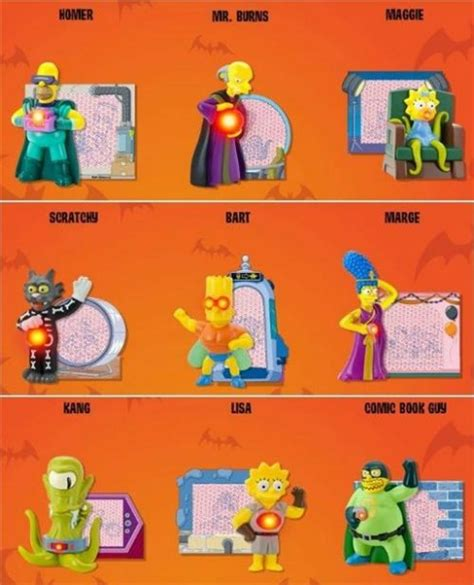 simpsons treehouse of horror figures burger king simpsons wiki