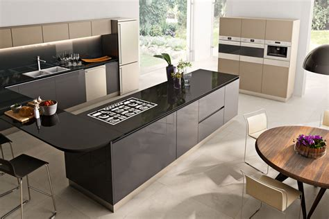 Designer Kitchen Appliances du a kuchnia z wysp w czerni i be ach architektura