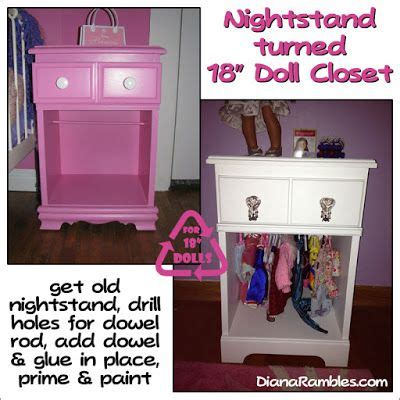 american girl armoire target nightstand turned 18 quot doll closet girl dolls