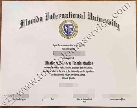 International Top Management Mba Certificate From Fia buy a mba diploma from florida international